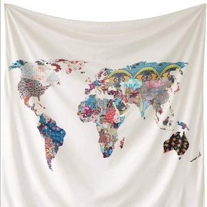 Other - Floral World Map Tapestry
